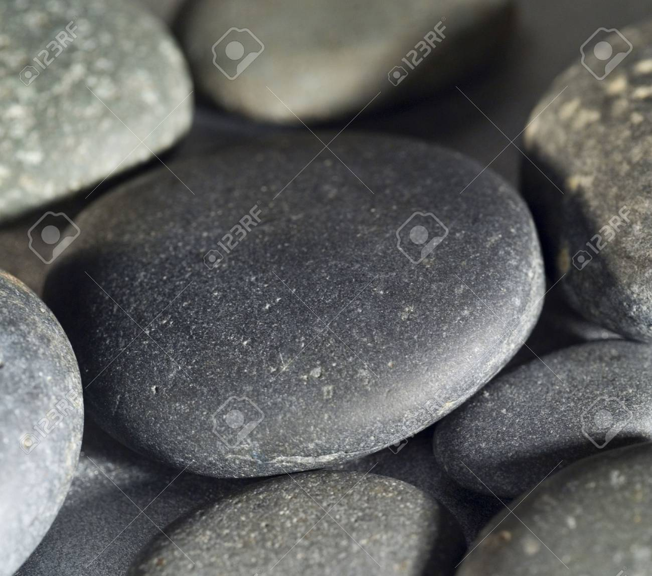 close up of smooth rocks on a beach Stock Photo - 2414540