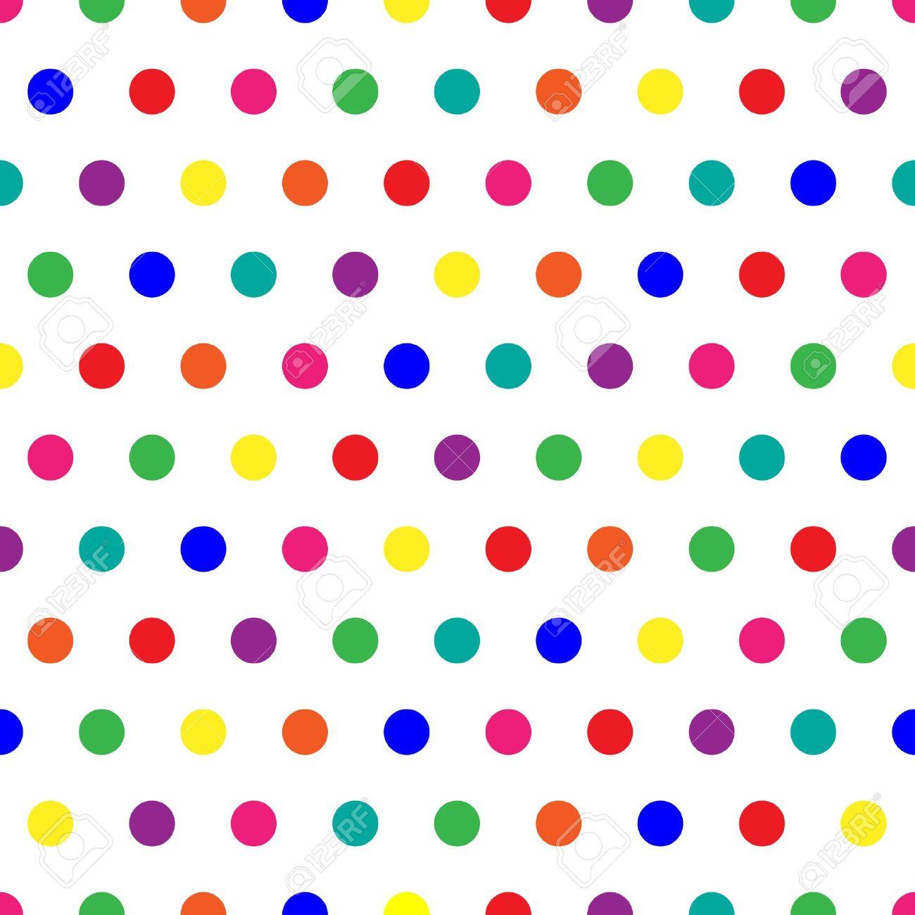 Colorful Polka Dot Background