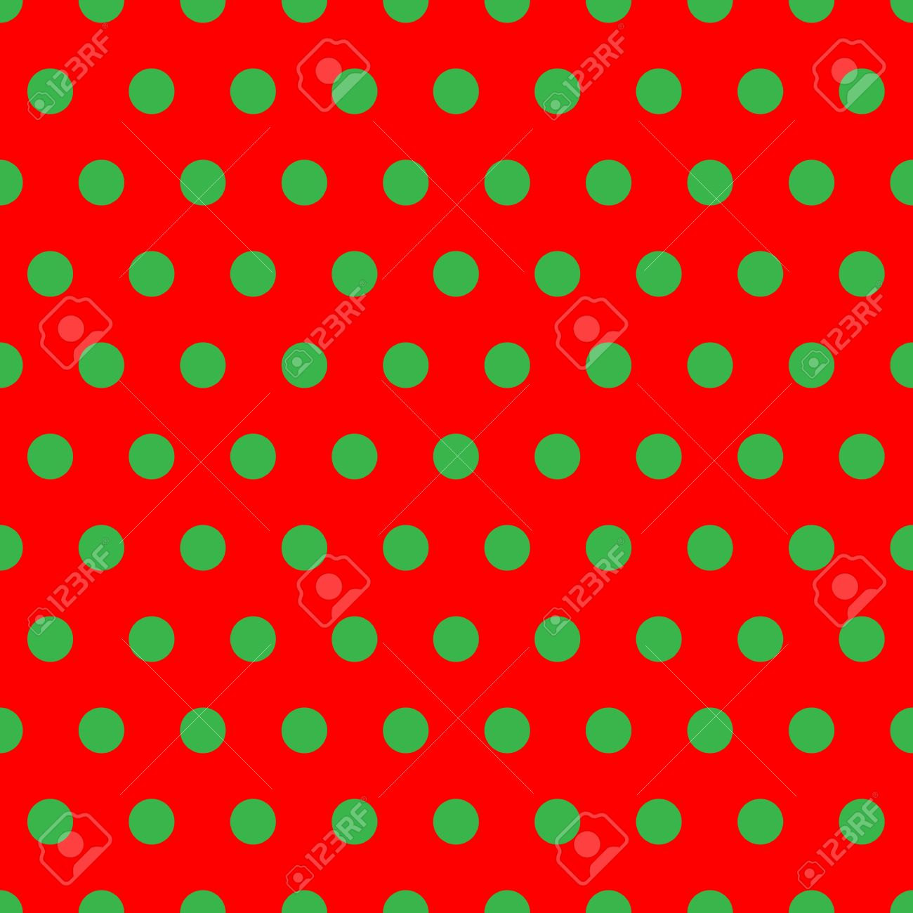 A Background Pattern Of Polka Dots In Christmas Colors Stock Photo ...