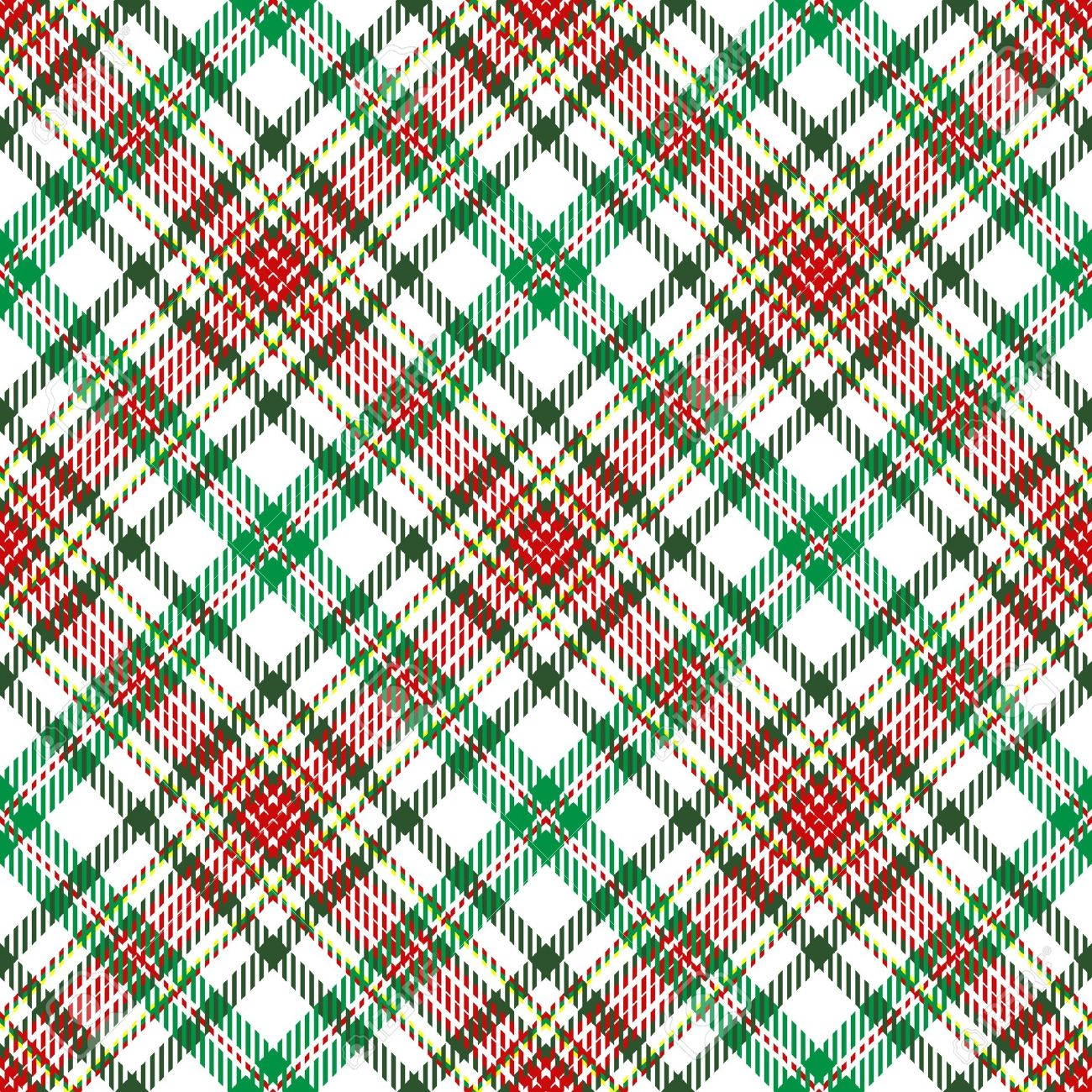 Christmas Plaid.A Plaid Background Pattern In Christmas Colors