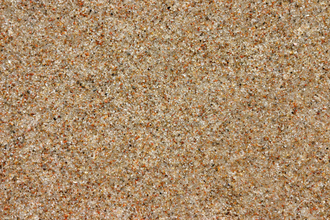 Beach Sand Background Natural Texture Brown Color Copy Space Stock Photo
