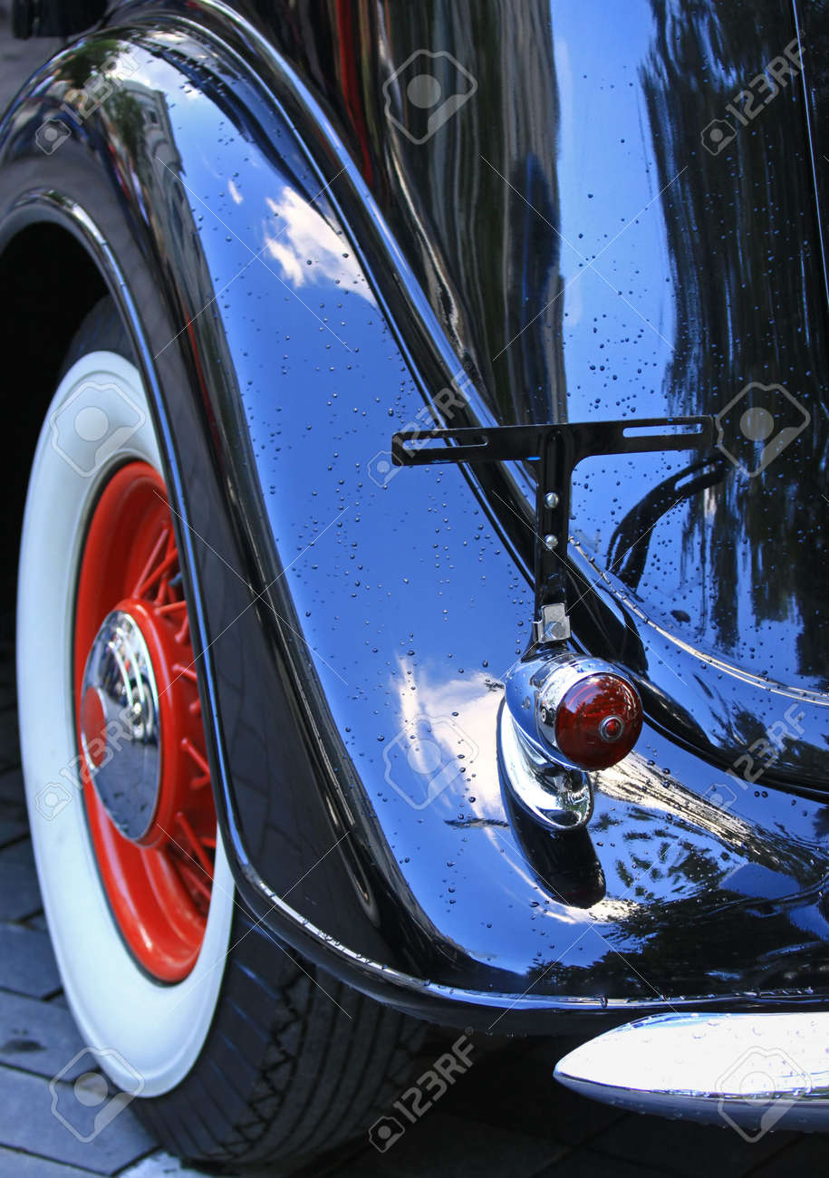 Vintage car, rear fin and light view Stock Photo - 7857572
