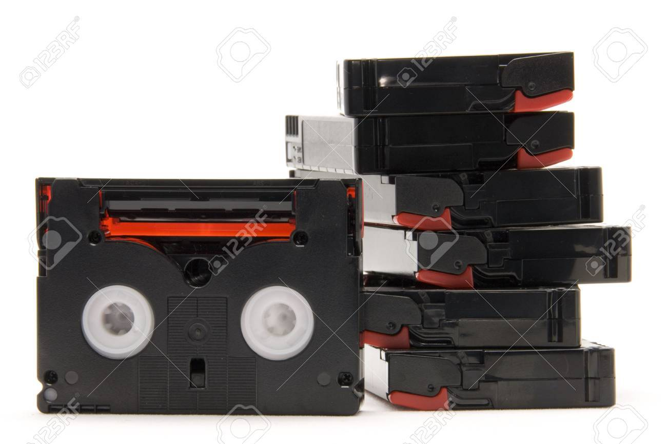 video tapes white isolated Stock Photo - 5034556