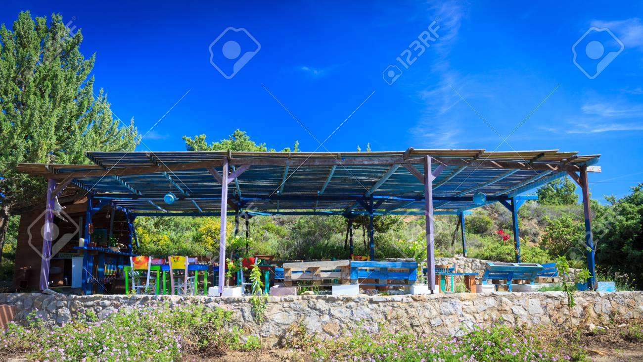 Stylish Vintage Outdoor Bar And Restaurant In Garden Stock Photo Picture And Royalty Free Image Image 84666478