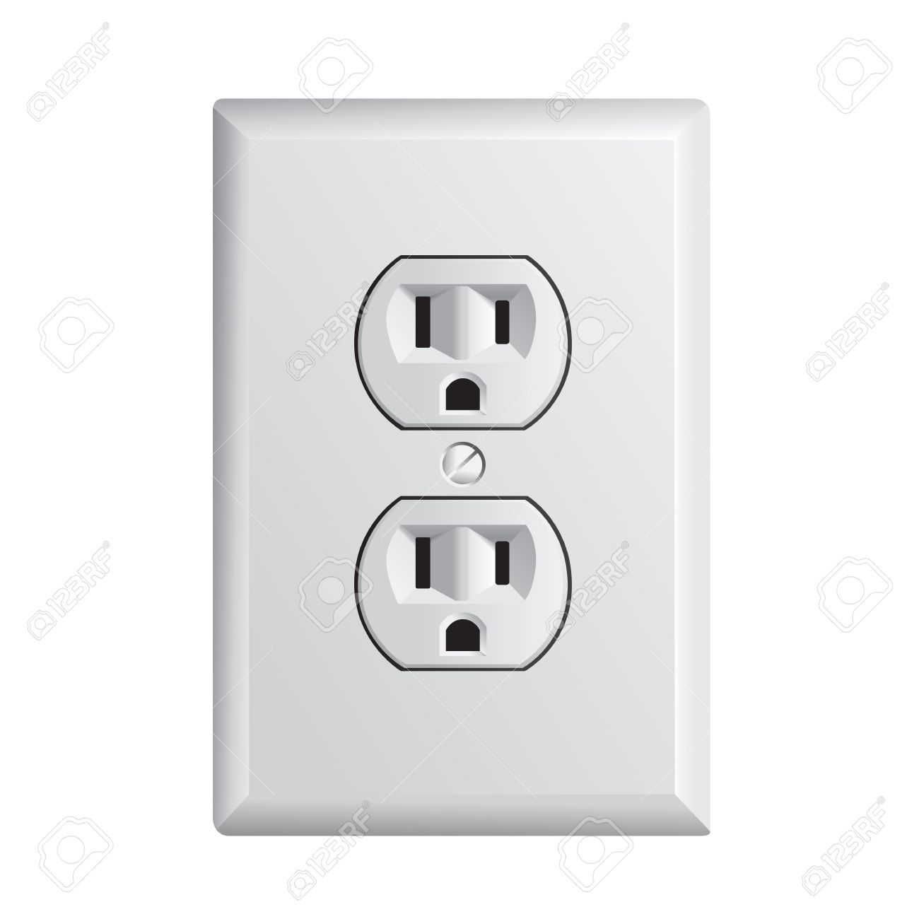 Electrical Outlet In The USA, Power Socket Royalty Free Cliparts ...