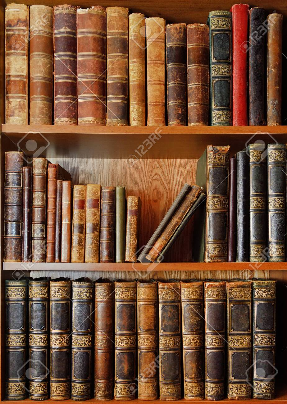 shelves with antique books in old library stock photo picture and rh 123rf com antique library bookshelves