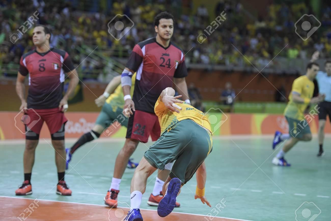 Rio, Brazil - august 13, 2016: ELMASRY Ibrahimegi during Handball