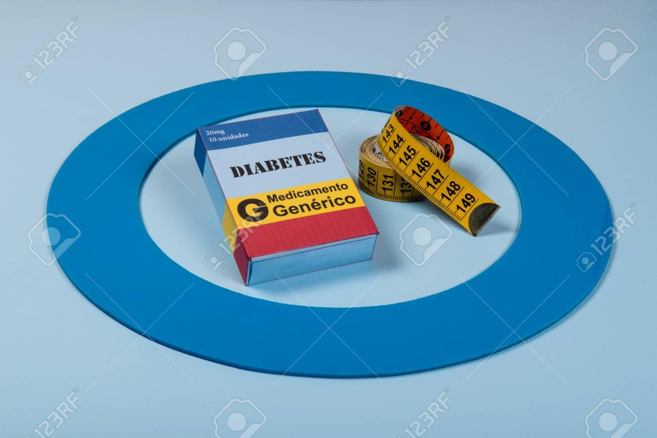 diabetes blue circle Fotografías