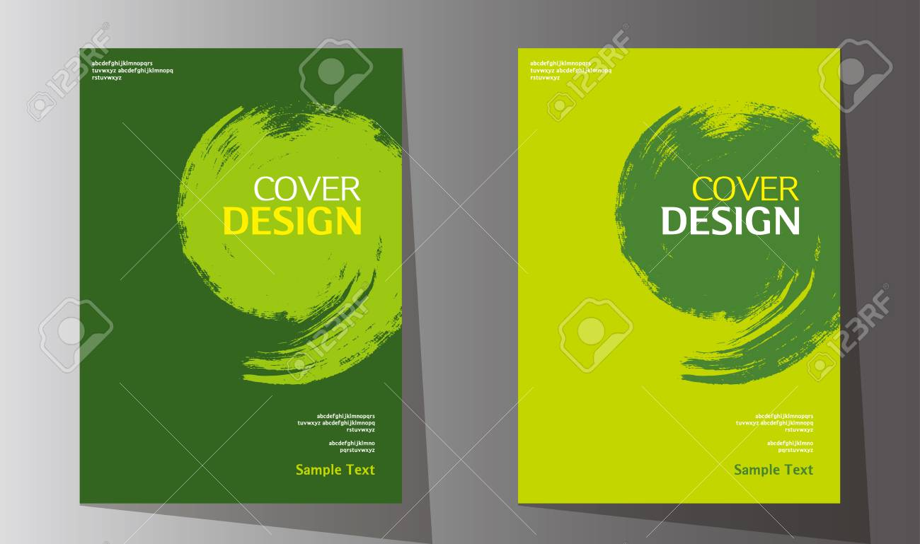 Simple abstract book cover design vector template in A4 size