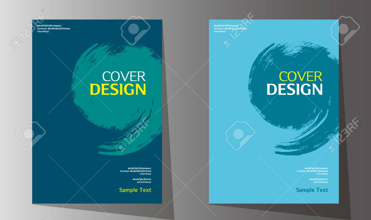 simple abstract book cover design vector template in a4 size for annual report brochure design
