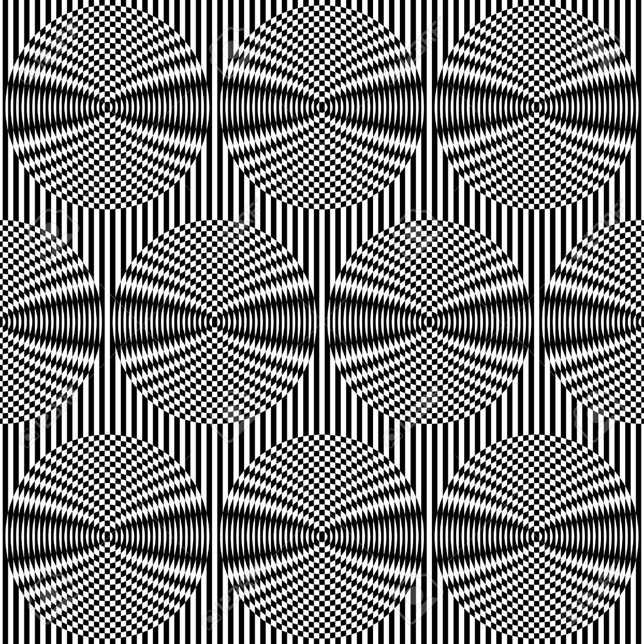 Optical art background  Seamless pattern  Vector Stock Vector - 19867771