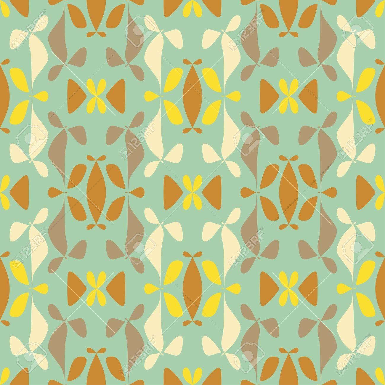 Garden flower bed ornament  Seamless pattern  Vector Stock Vector - 19867709