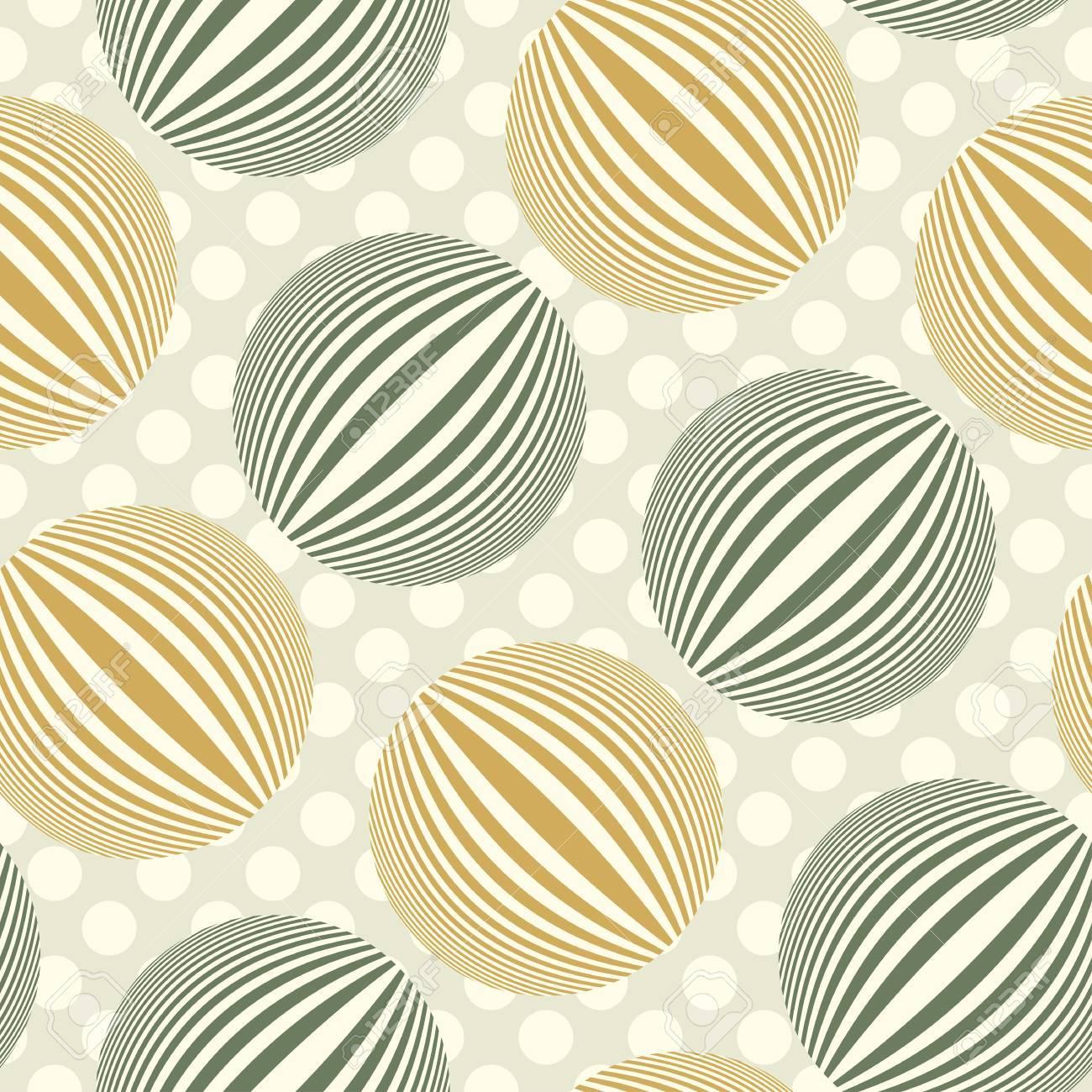 Striped bubbles polka dot  Seamless pattern  Vector Stock Vector - 19867713