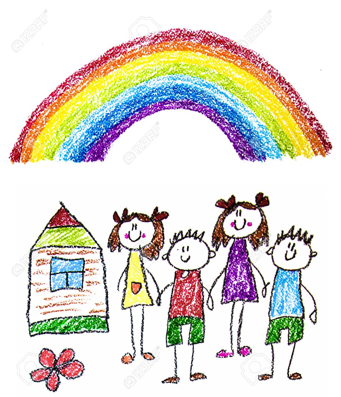 Kids Drawing Image Little Children Boys And Girls School Stock Photo Picture And Royalty Free Image Image 122527377