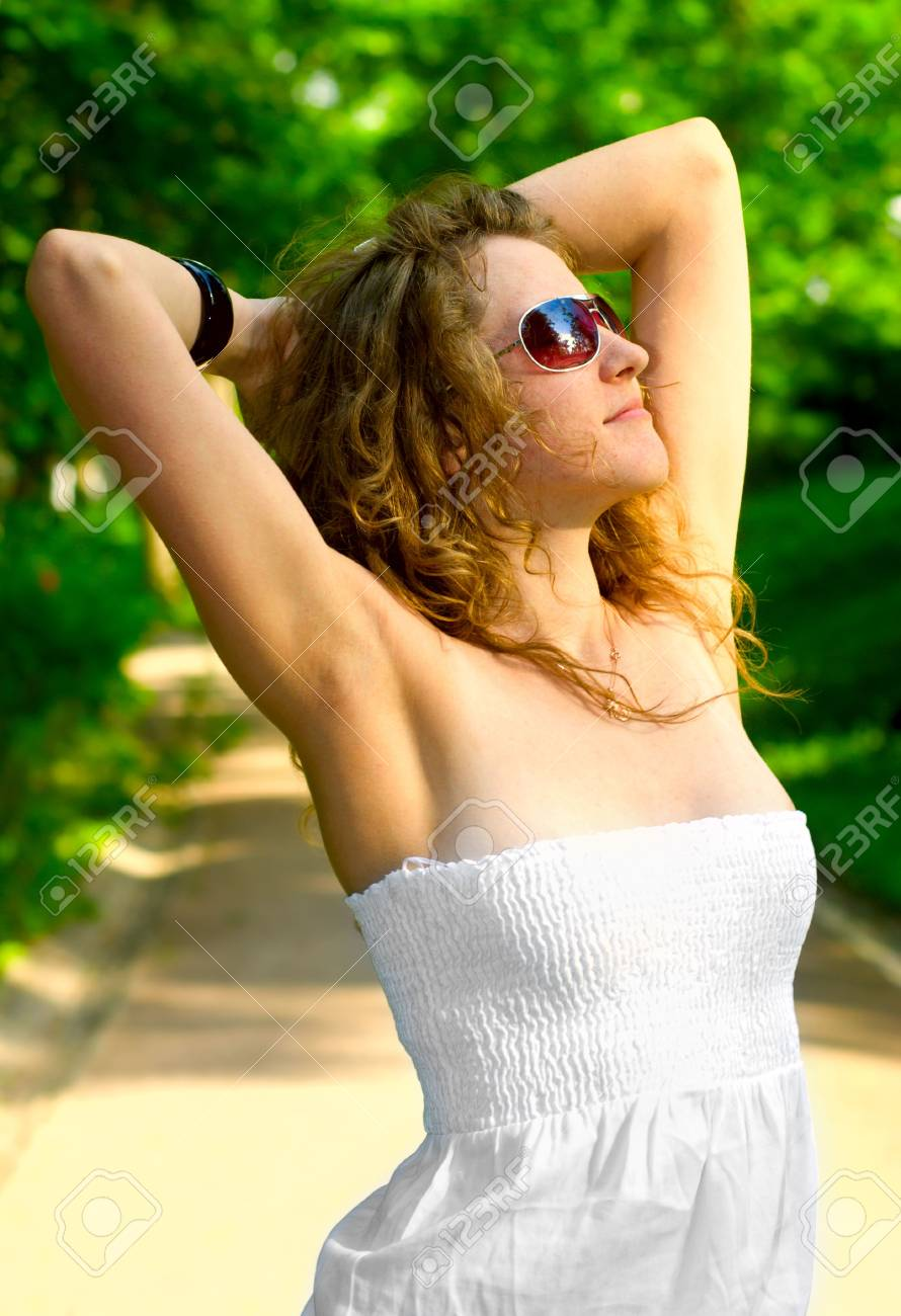 woman in a park Stock Photo - 5111525
