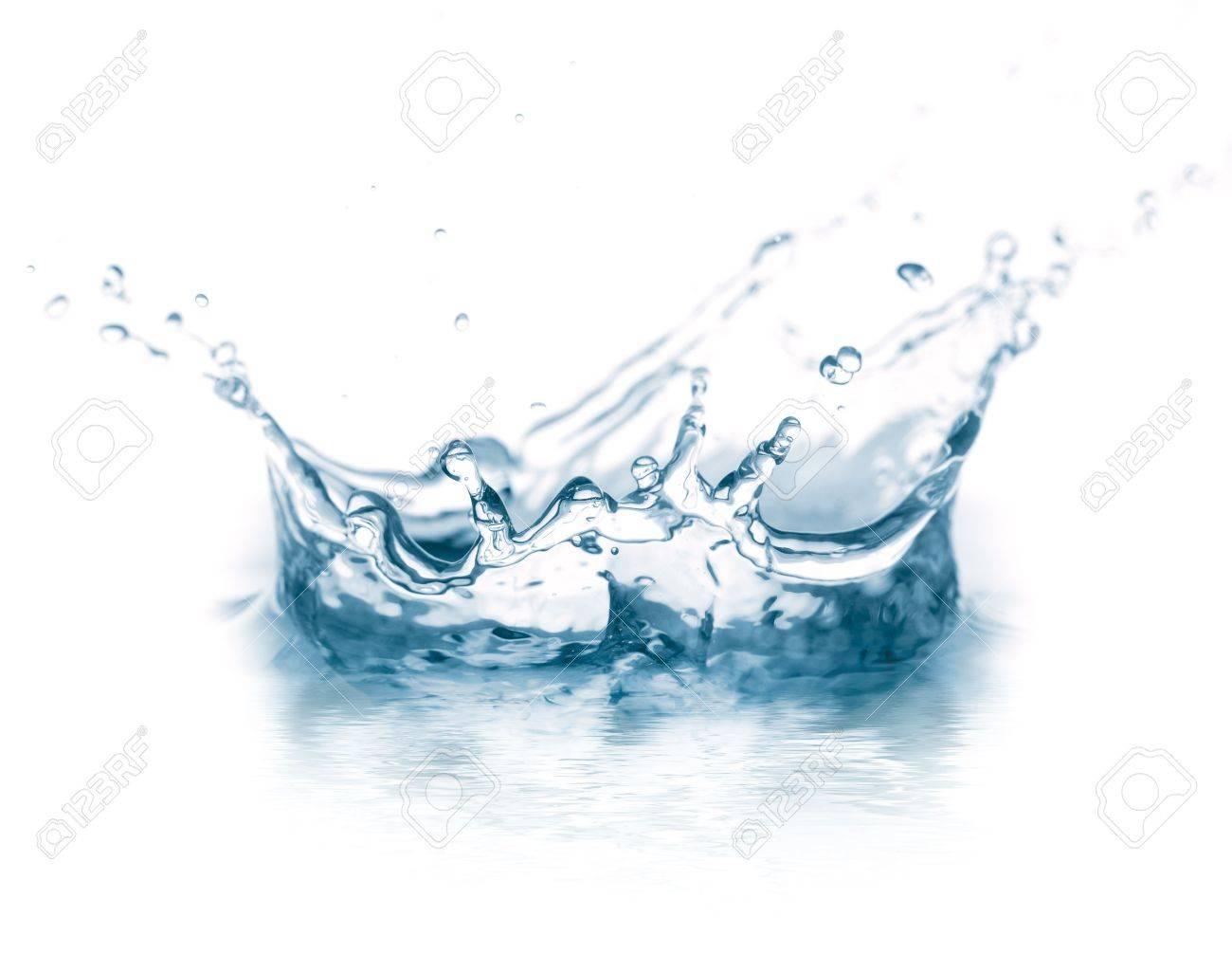water splash isolated on white Stock Photo - 6722996