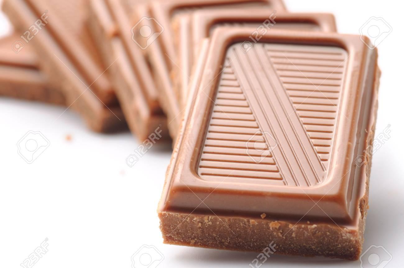 chocolate bars isolated on white Stock Photo - 6816605
