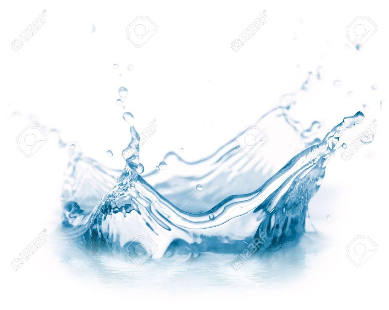 water splash isolated on white Stock Photo - 6816790