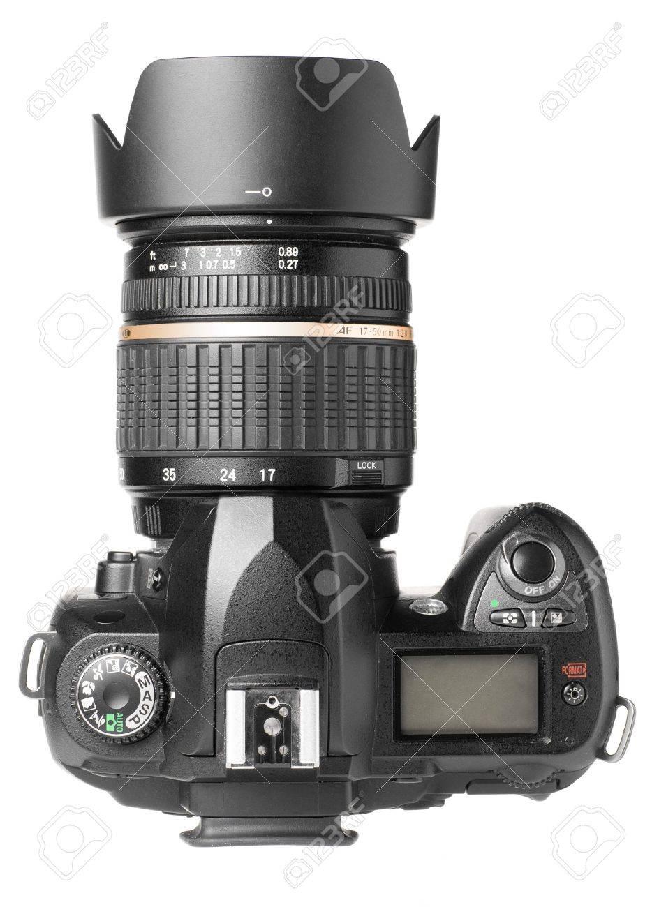 professional digital camera isolated on white Stock Photo - 8856943