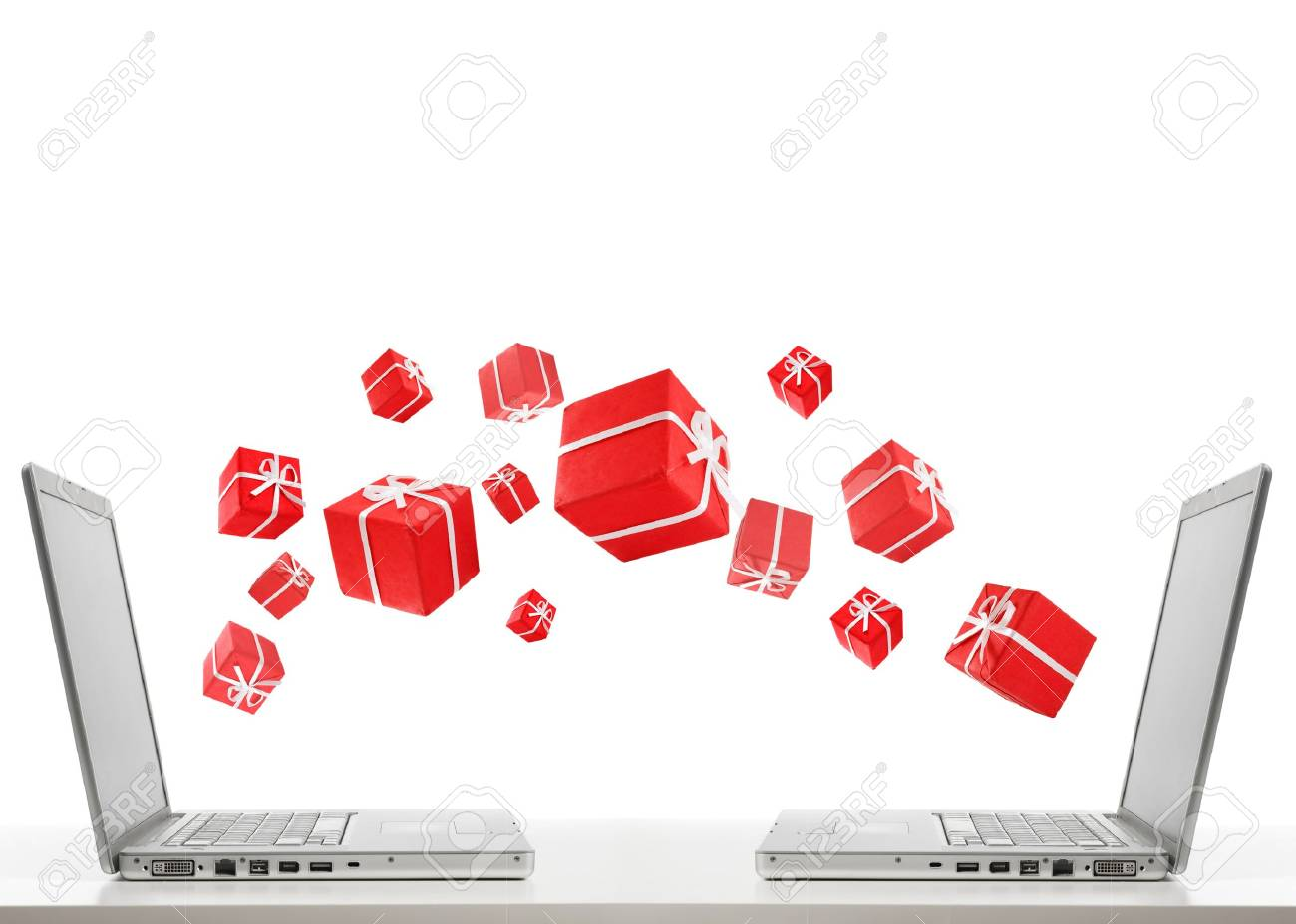 two laptops and gifts Stock Photo - 9470022