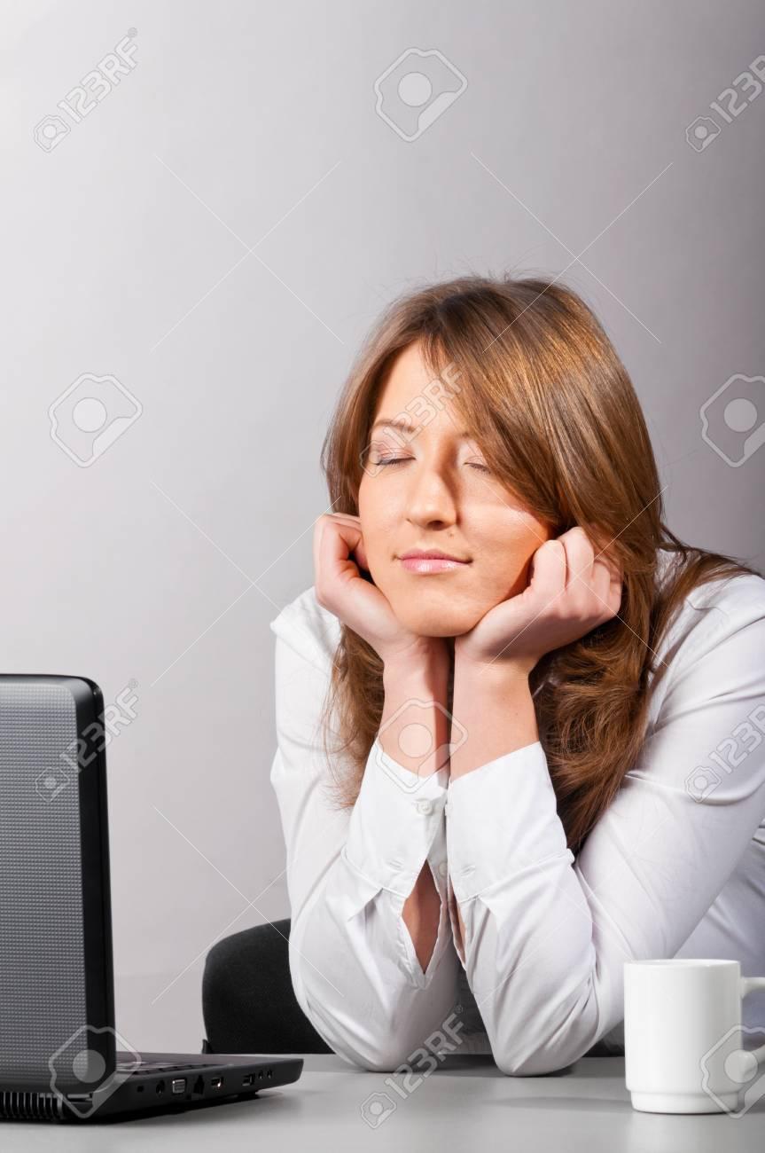 sleeping business woman Stock Photo - 9999576