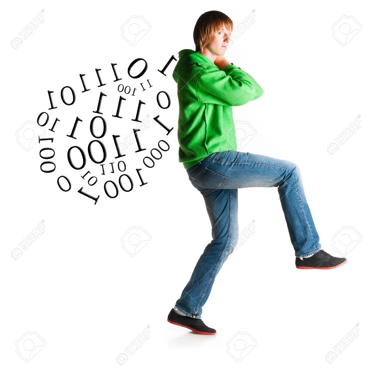 hacker is shaking out laptop Stock Photo - 13799859