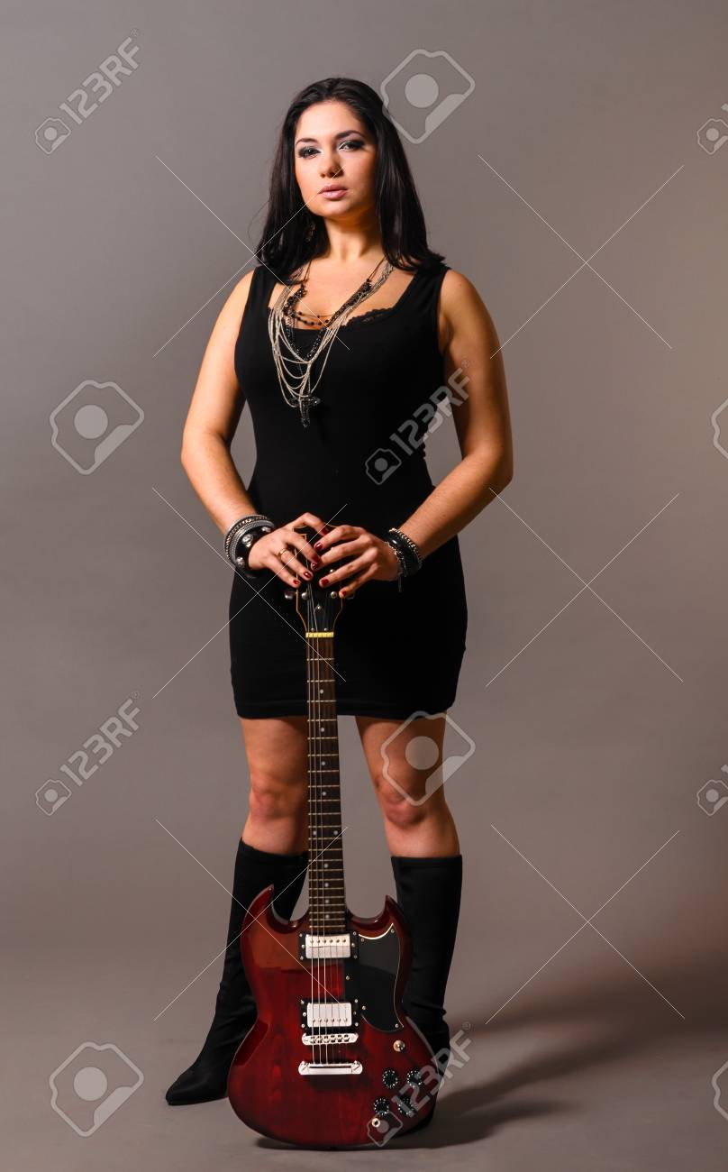 electric guitar performer Stock Photo - 17287008