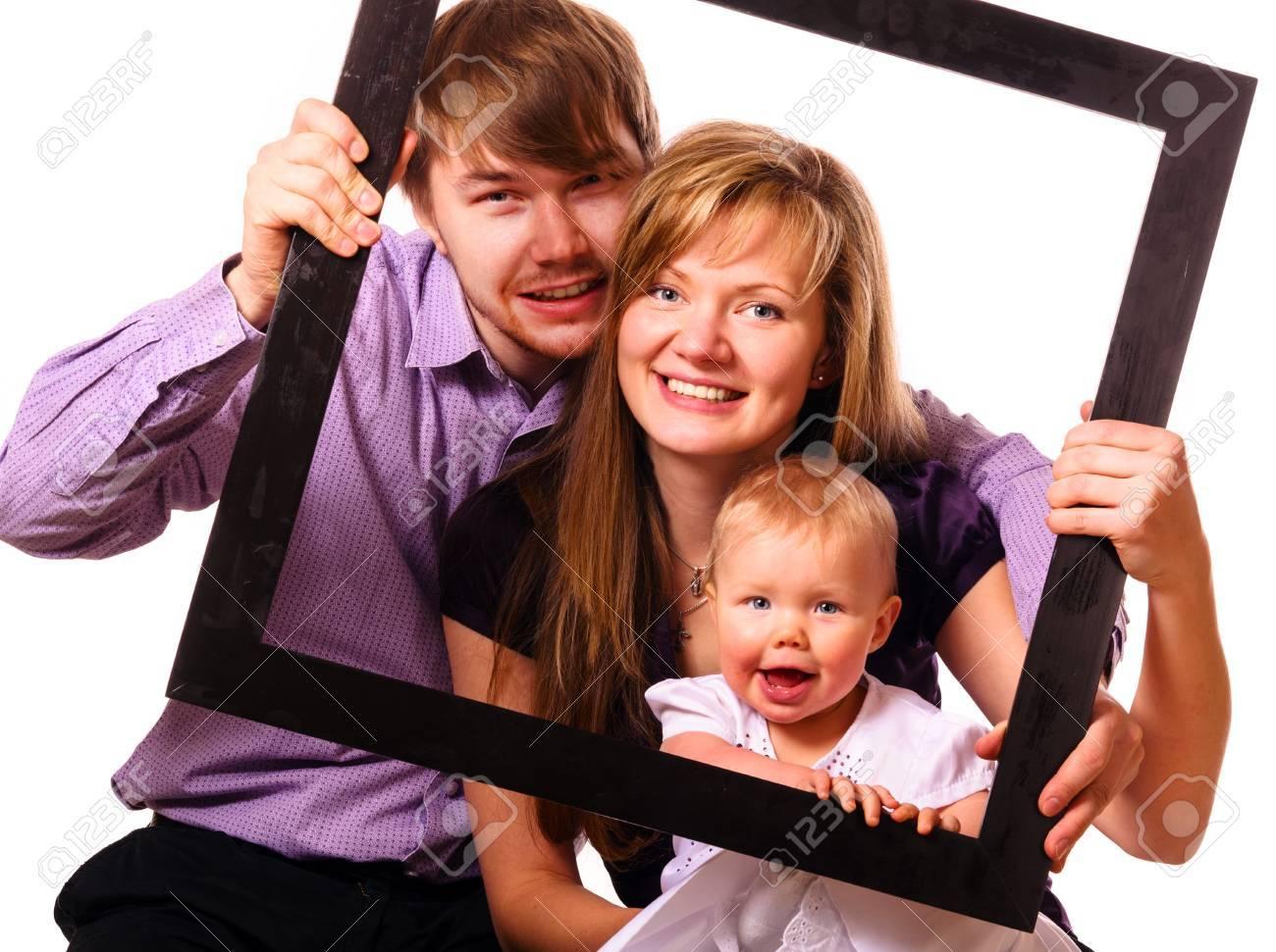 happy family with baby Stock Photo - 17286989
