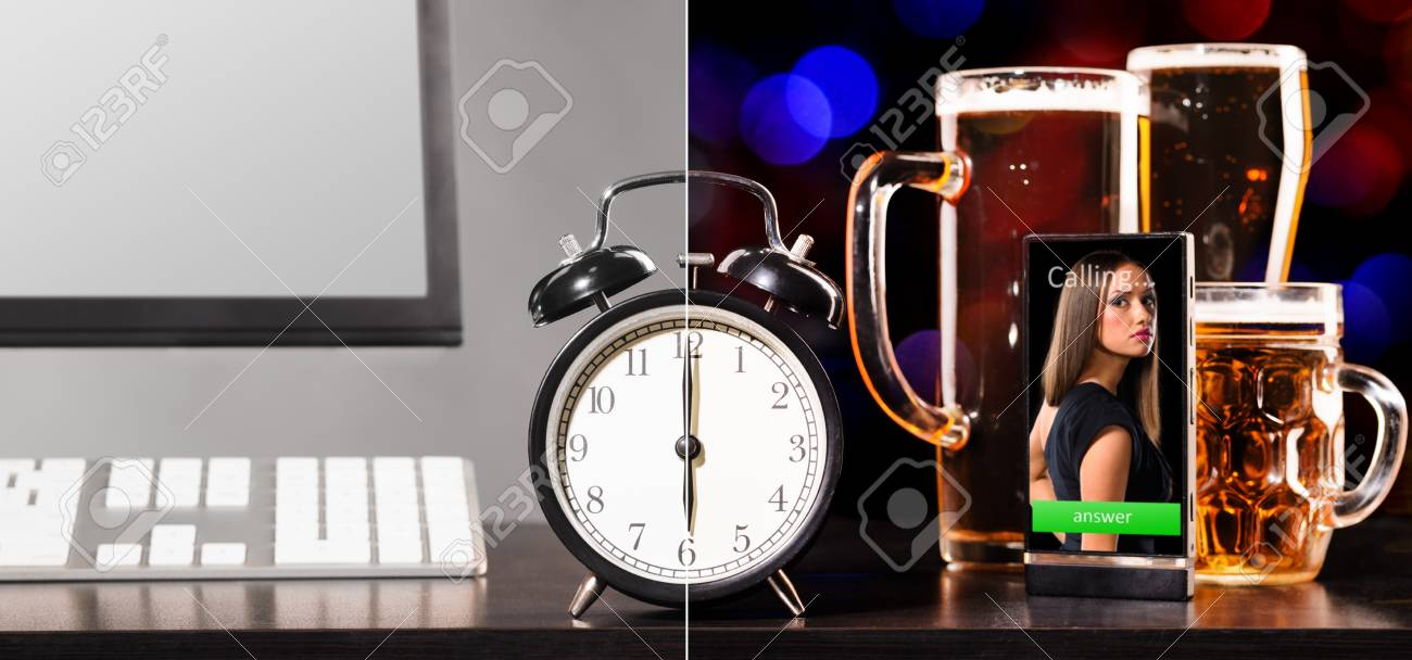 beer party after working day Stock Photo - 18352466