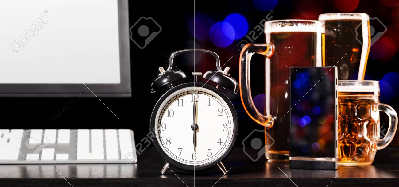 beer party after working day Stock Photo - 18378829