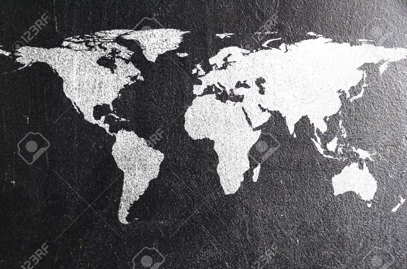 World map on chalk board earth silhouette is from visibleearth stock photo world map on chalk board earth silhouette is from visibleearth nasa gov gumiabroncs Images