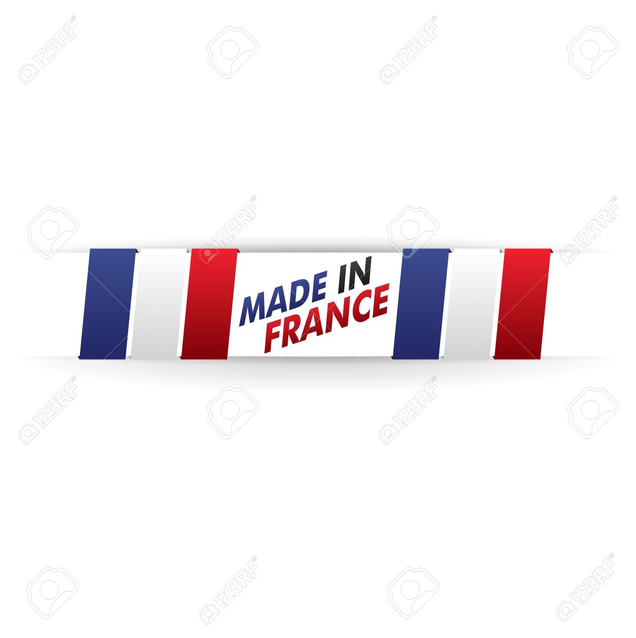 stamp, french flag    product, made in france Stock Vector - 17031451