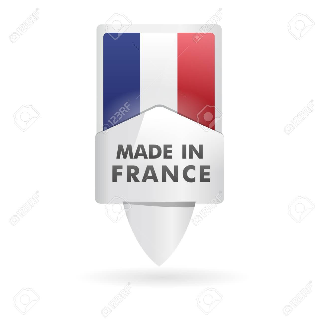 french flag, pin    product, made in france Stock Vector - 17031460