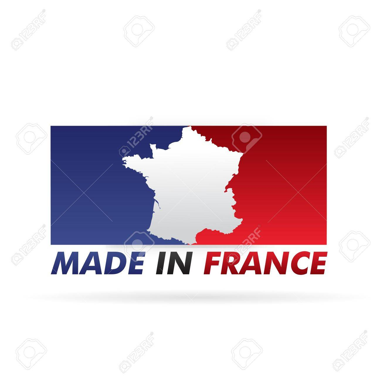 french flag, stamp    product, made in france Stock Vector - 17031463