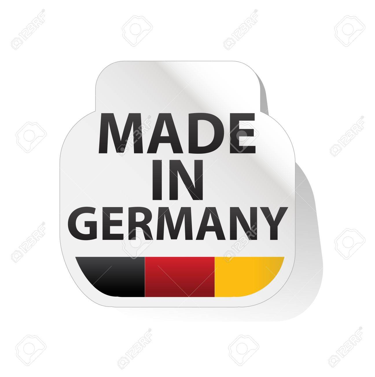 sticker, button   made in germany Stock Vector - 17553901