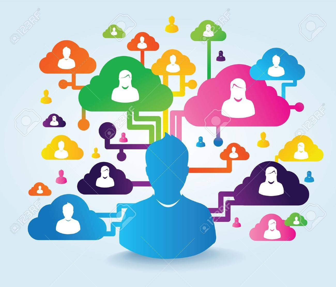 cloud and social media Stock Photo - 21250788