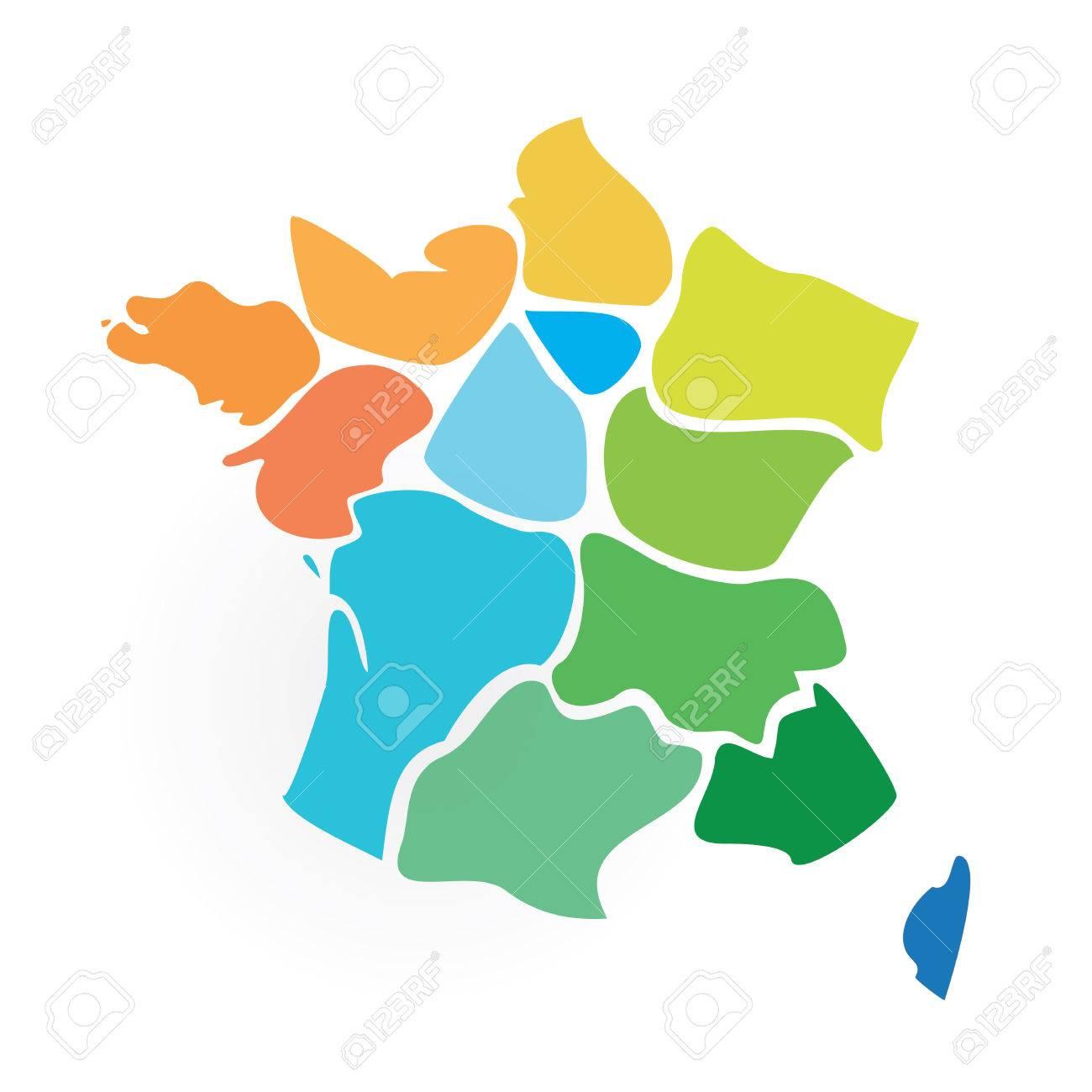 Resultat Carte Et Regions De France Clip Art Libres De Droits Vecteurs Et Illustration Image 69045945