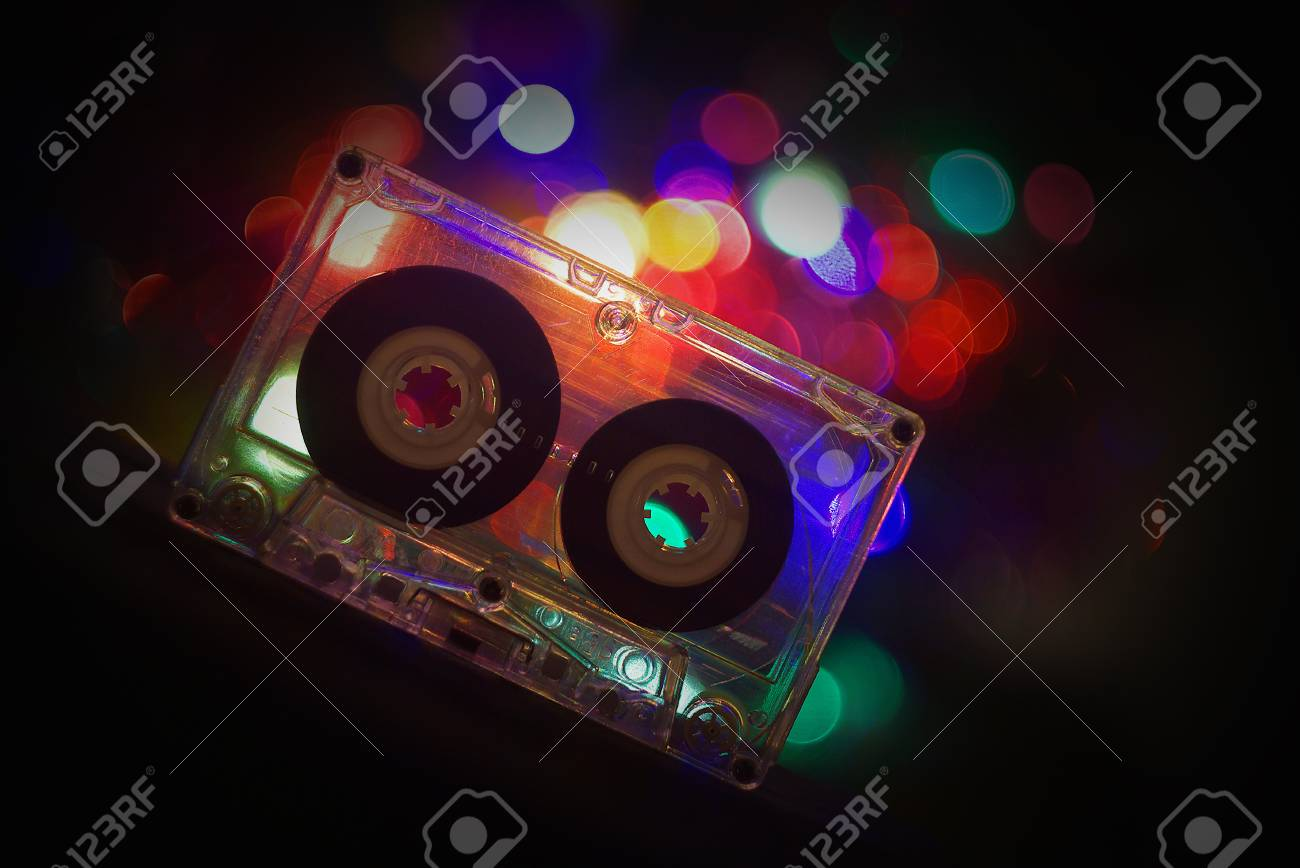 Audio Tapes For Tape Recorder 70s 80s 90s Bokeh Vintage Fashion