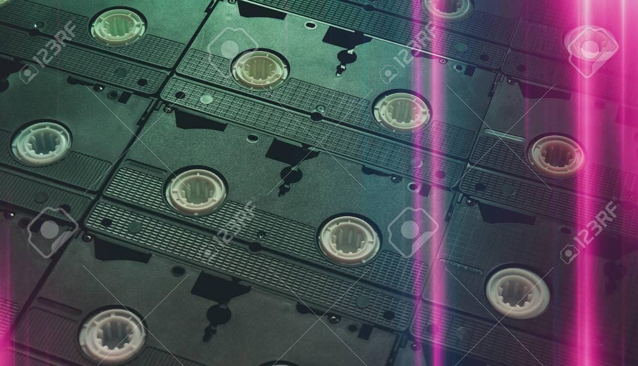 Old video cassette recorder vintage retro vhs 70s 80s 90s wallpaper