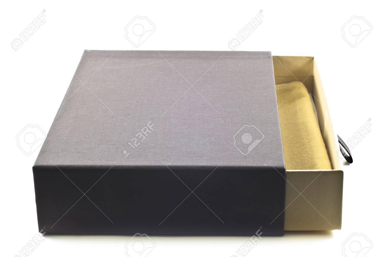 Open empty gift box isolated on white background Stock Photo - 10532063