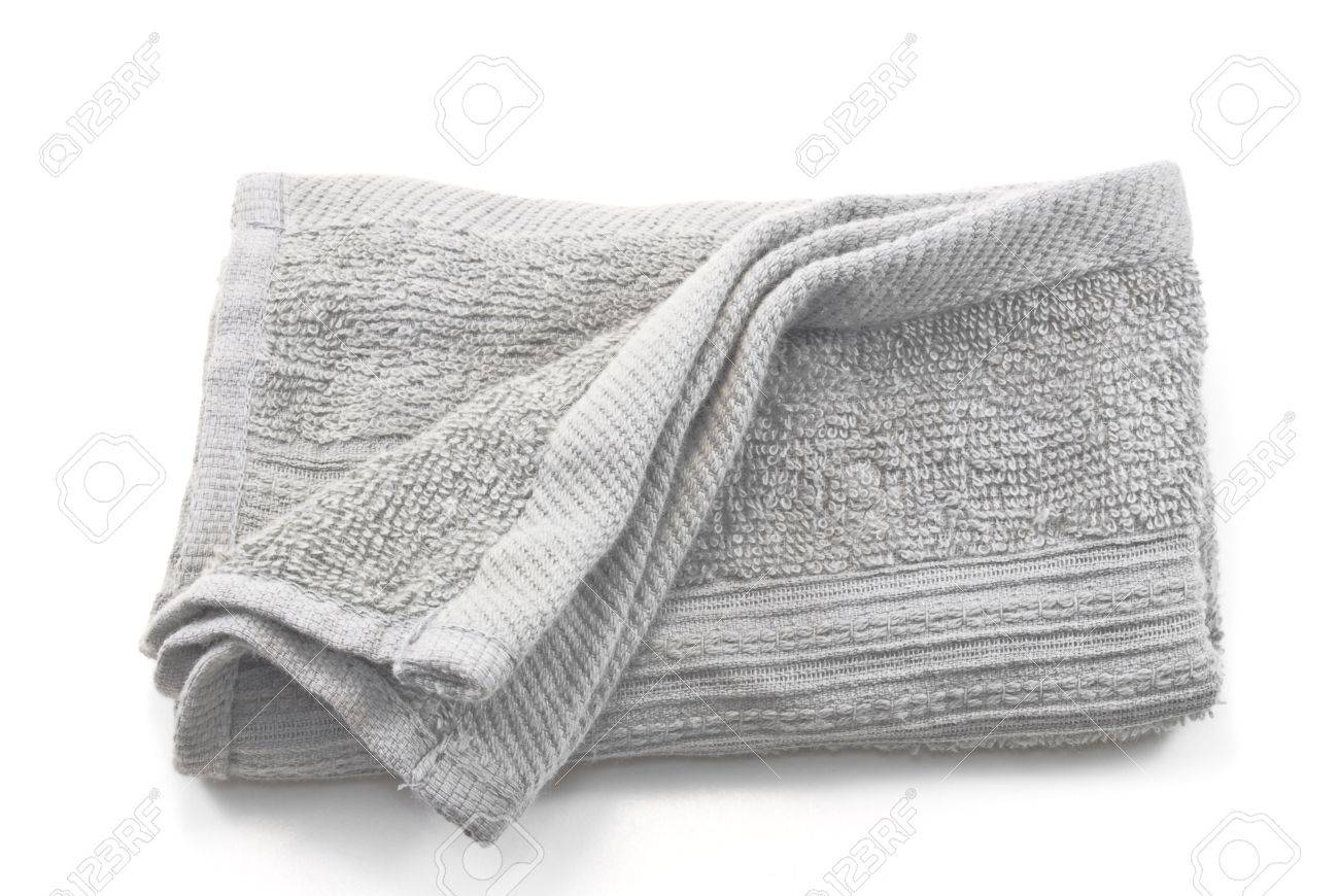 1e3d9638c98a33 Crumpled grey cloth(rag) isolated on white background Stock Photo - 10789370
