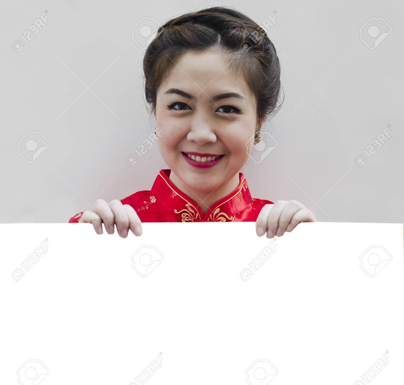 Orientalische Mädchen Wünschen Ihnen Ein Frohes Chinesisches Neues ...