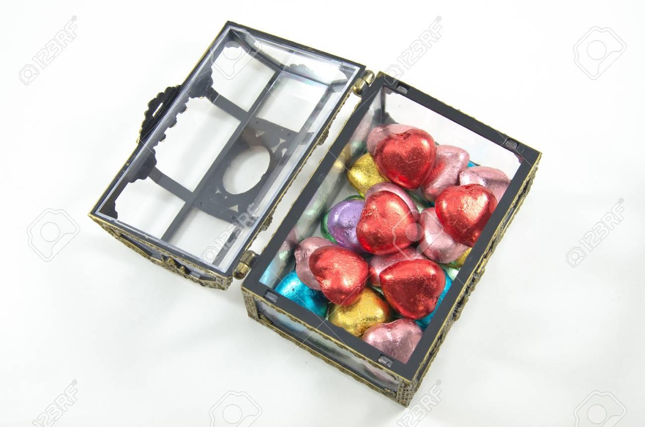 opening Chocolate boxes on white background, isolated Stock Photo - 12422037
