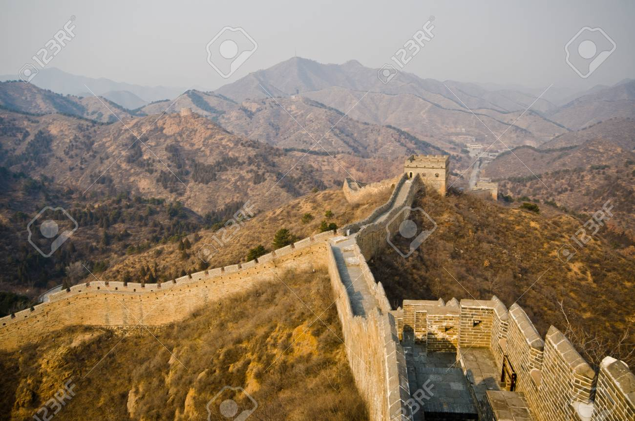 Great Wall of China at Sunny Day. Stock Photo - 13650968