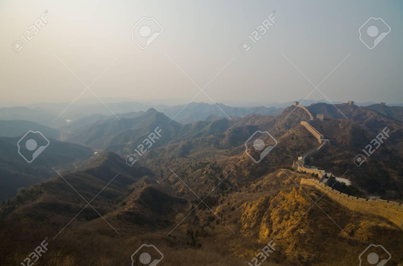 Great Wall of China at Sunny Day. Stock Photo - 13650164