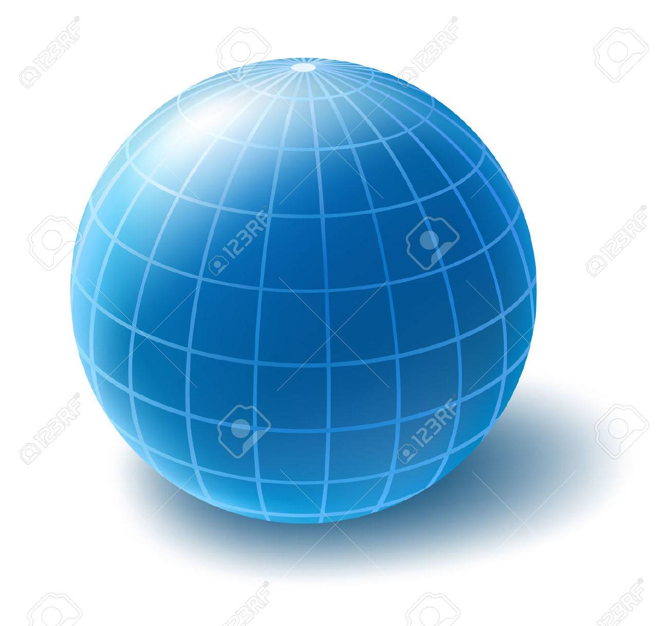 Blue globe Stock Vector - 6374829