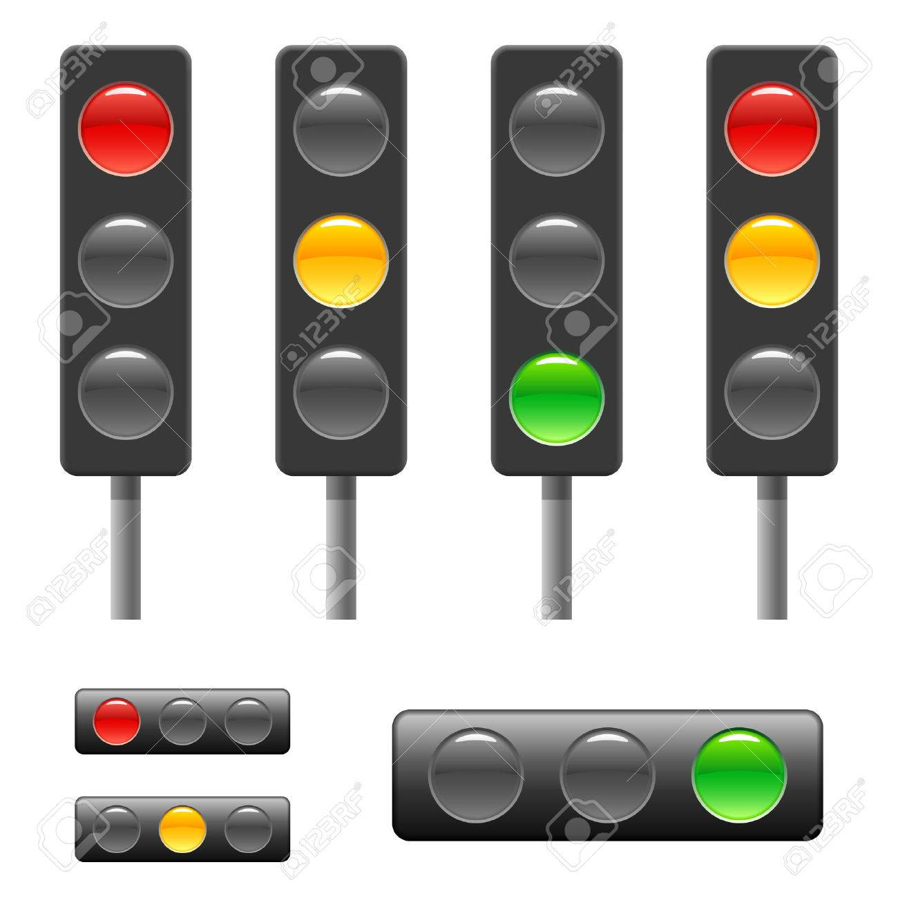 Great Traffic Light U0026 Status Bar Stock Vector   6425466 Design