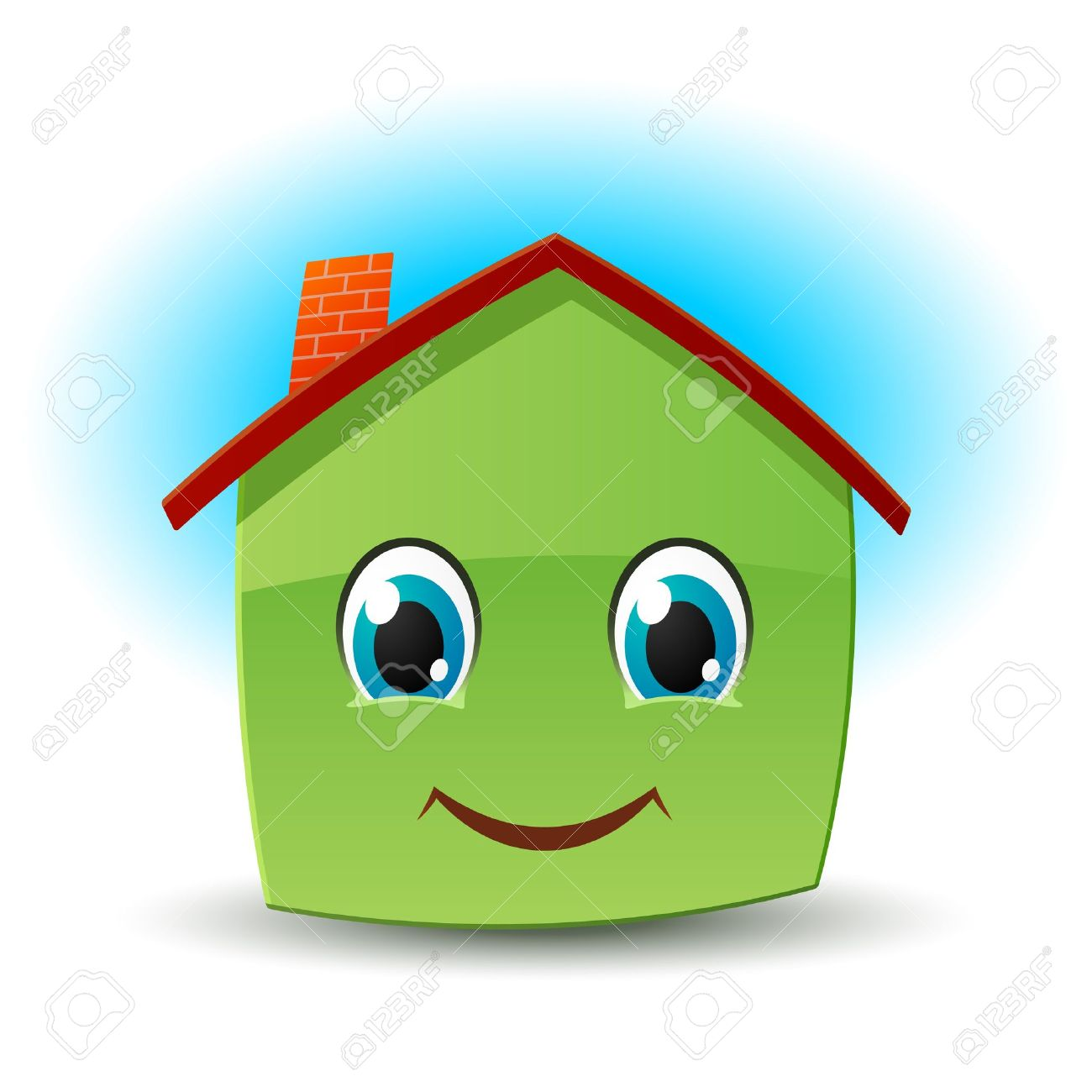 Smiling house Stock Vector - 9476376