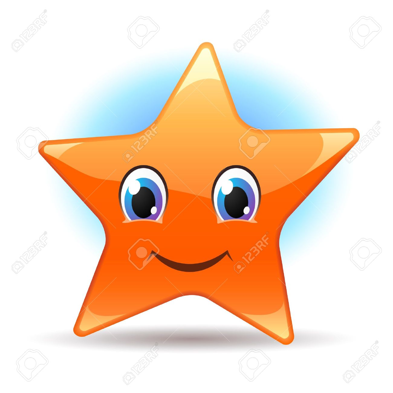 Smiley star Stock Vector - 9514831