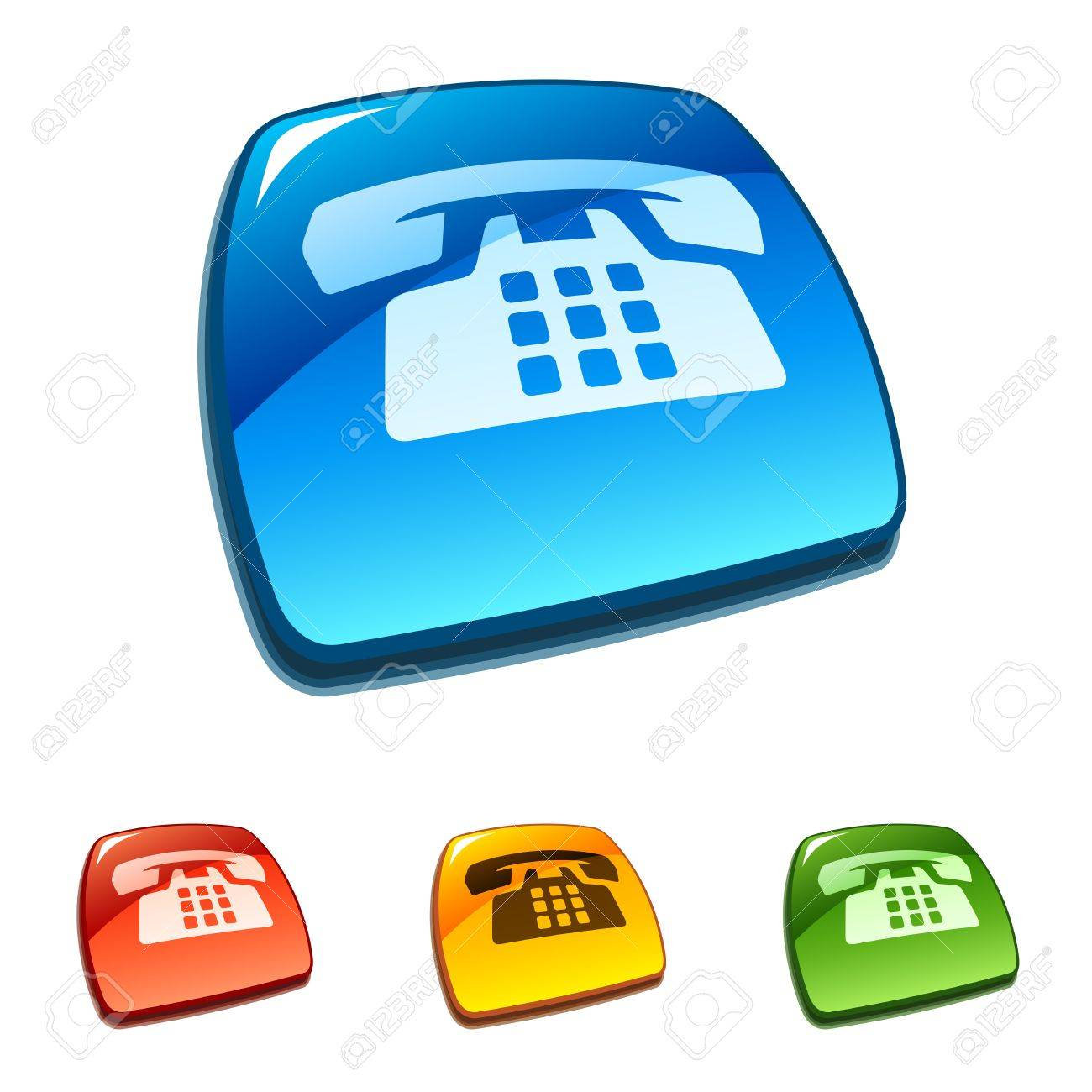 Phone buttons Stock Vector - 11661473